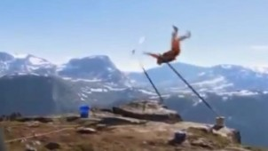 video accident de base jump